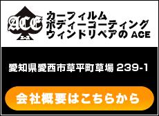 カーフィルム・ボディーコーティング・ガラスリペアのACE・愛知県愛西市草平町草場239-1・会社概要はこちらから